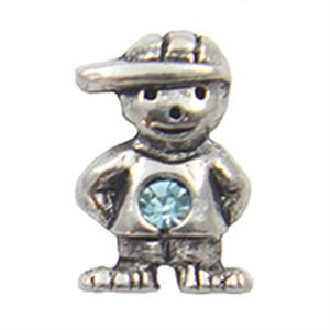 Picture of March Boy Birthstone Charm